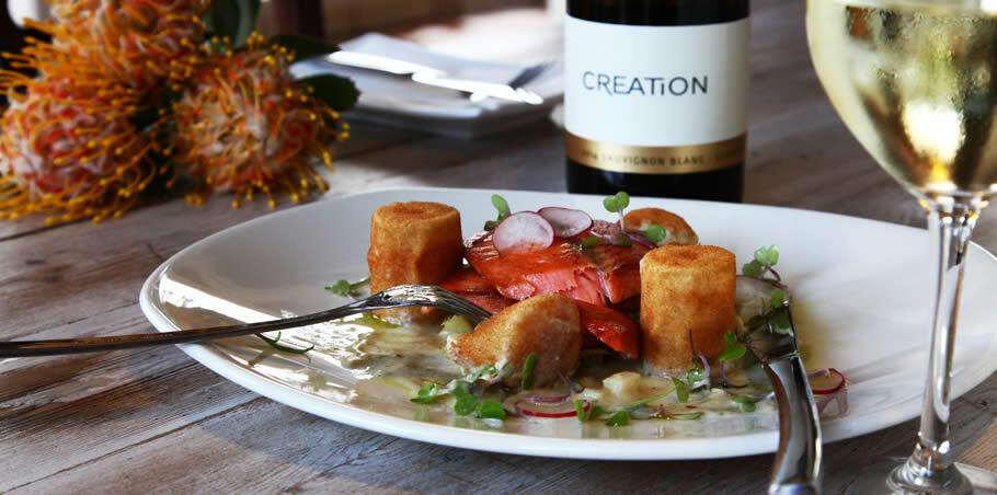 Nuwejaarsrivier trout - Creation Sauvignon Blanc Semillon 2014