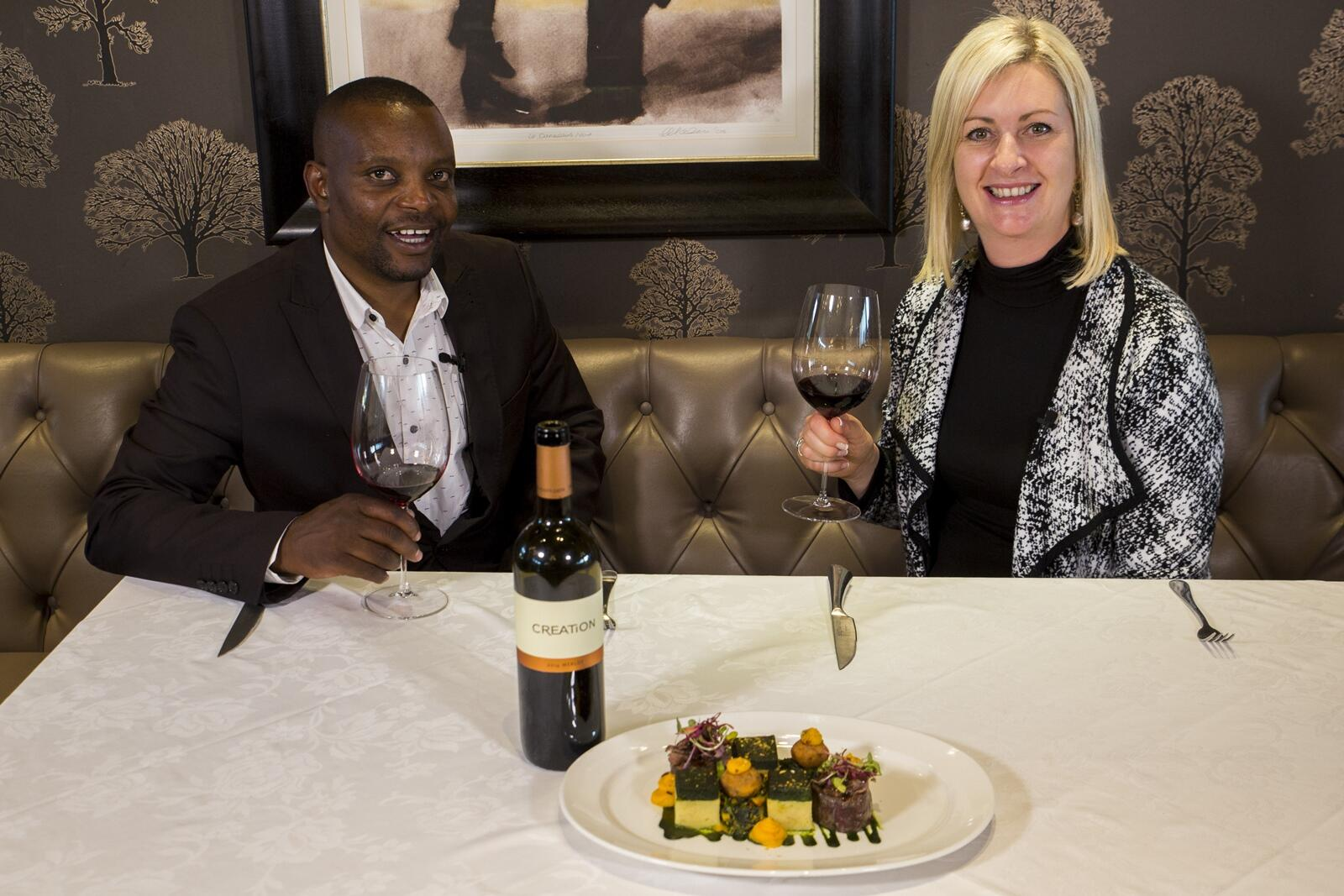 Carolyn Martin and Signature's MIke Buthelezi